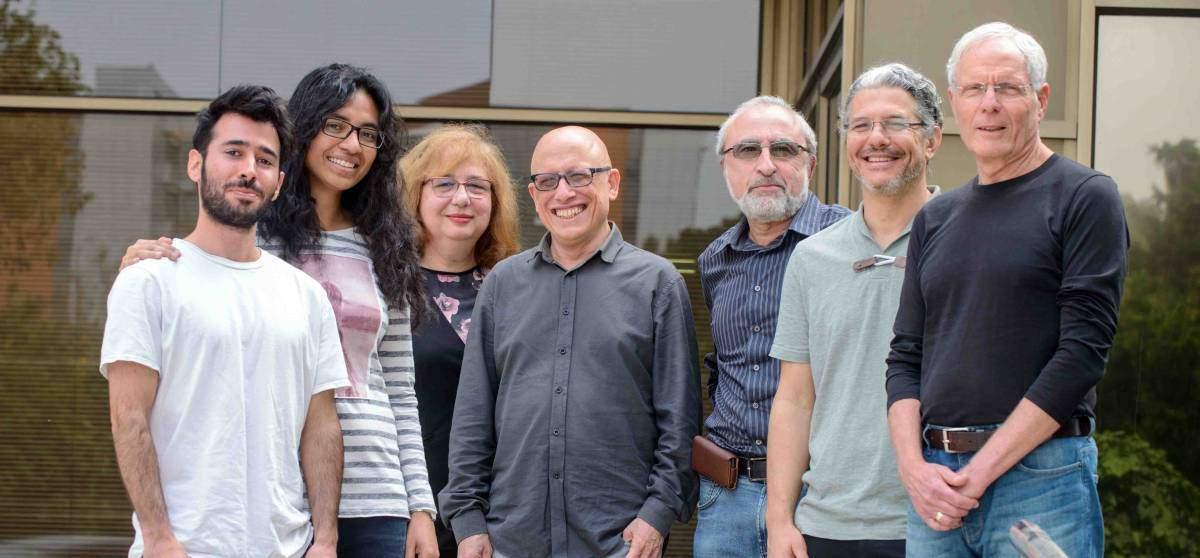 (l-r) Amir Rosenblatt, Dr. Mitali Banerjee, Dr. Diana Mahalu, Prof. Adi Stern, Dr. Vladimir Umansky, Prof. Yuval Oreg and Prof. Moty Heiblum