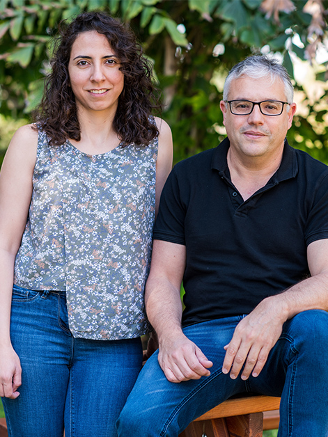 (l-r) Dr. Lama Tarayrah Ibraheim and Prof. Eli Arama. This study is the first to identify and explore a developmental form of parthanatos