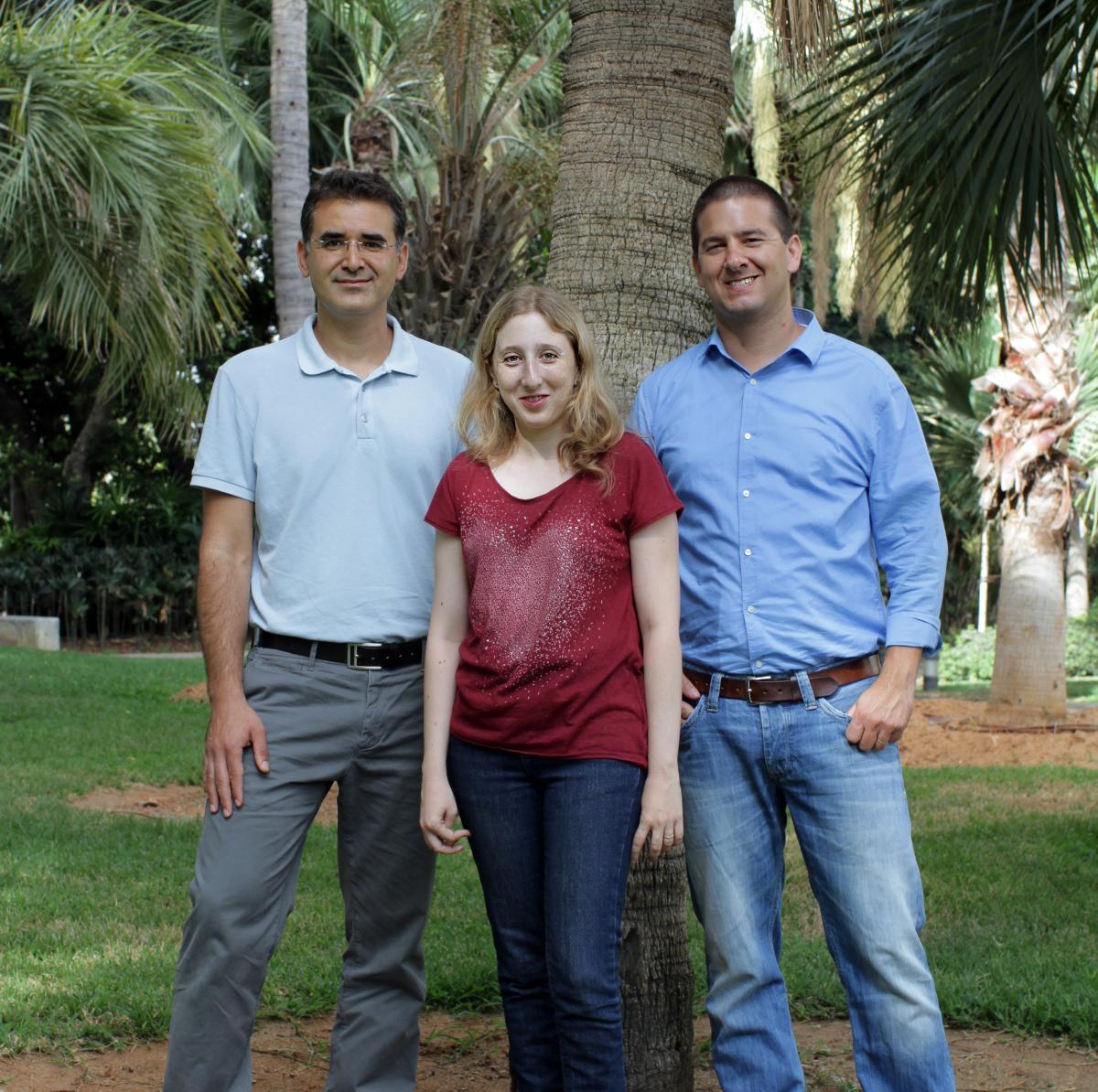 "מימין: ד""ר ערן הורנשטיין, נטליה ריבקין וד""ר אליק צ'אפניק. תפקיד חיוני"