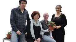 l-r) Dr. Asaph Aharoni, Dr. Ilana Rogachev, Tal Mendel and Dr. Avital Adato