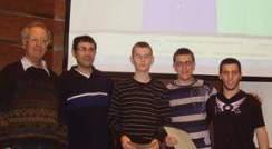 CodeGuru Xtreme. (l-r) Dr. Zvi Paltiel, Dr. Yossi Elran and the winning team. Programmed to succeed