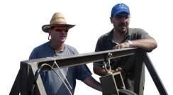 (l-r) Drs. Hezi Gildor and Riyad Manasrah. Sailing toward a common goal