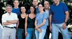 Left to right: Prof. Ed Bayer, Jonathan Caspi, Rachel Haimovitz, Ilit Noach, Alon  Karpol, Hadar Gilary, Dr. Ely Morag and Dr. Yoav Barak. Designer cellular machinery
