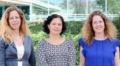 Profs. Michal Sharon, Maya Schuldiner and Nirit Dudovich