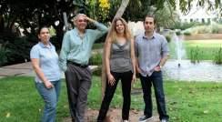 (l-r) Dr. Gili Ben-Nissan, Prof. Yosef Shaul, Dr. Michal Sharon and Oren Moscovitz