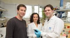 (l-r) Prof. Rotem Sorek, Maya Shamir and Daniel Dar
