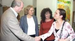 Profs. Daniel Zajfman, Elizabeth Blackburn, Adi Kimchi and Dr. Maya Bar Sadan. Women in science