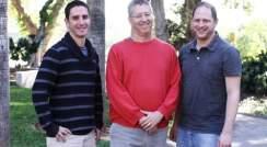 (l-r) Dr. Tuval Ben Yehezkel, Prof. Ehud Shapiro and Tamir Biezuner