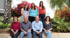 (l-r) Standing: Einat Levy, Dr. Liat Rousso Noori and Eynat Finkelshtein. Sitting: Prof. Hilla Knobler, Dr. Alon Chen, Prof. Ari Elson and Dr. Yael Kuperman. Sensitivity
