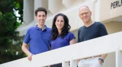 (l-r) Eyal Karzbrun, Alexandra Tayar and Prof. Roy Bar-Ziv