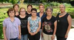 (l-r) Tova Presman, Anna Weisman, Helen Katz, Gila Udi, Yaffa Berko, Anat Shaibin, Nitzhona Akshuti and Geula Issachar