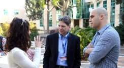 (l-r) Dr. Ruth Scherz-Shouval, Prof. Drew Pardoll and Dr. Rony Dahan