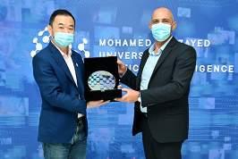 MBZUAI President, Professor Eric Xing and President of the Weizmann Institute, Professor Alon Chen in Abu Dhabi