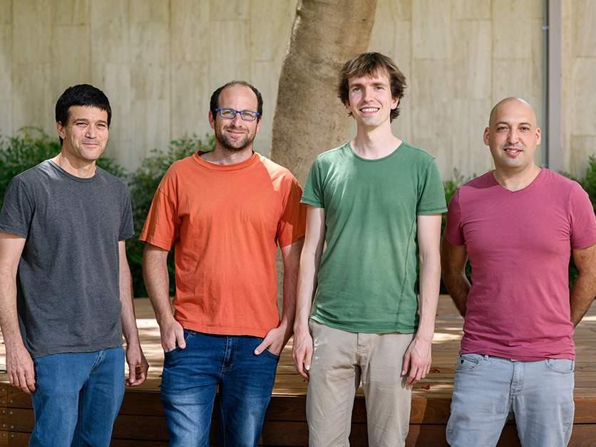 (l-r) Prof. Amos Tanay, Dr. Yoav Mayshar, Dr. Markus Mittnenzweig and Dr. Yonatan Stelzer. Orchestrated ensembles