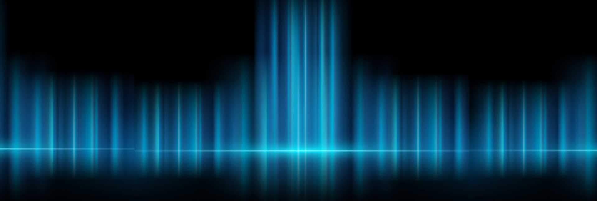 blue horizontal light on black background